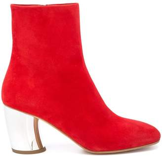 Proenza Schouler Suede Curved Heel Ankle Boots