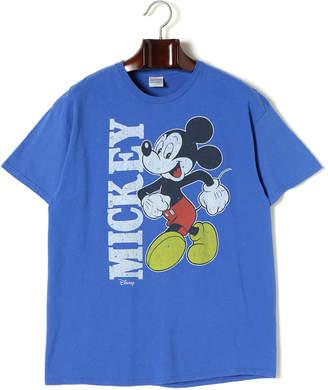 Junk Food Clothing (ジャンクフード) - JUNK FOOD Mickey Mouse プリント クルーネック 半袖Tシャツ ロイヤル xs