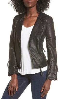 Women's Topshop Luna Faux Leather Biker Jacket $95 thestylecure.com