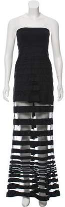 Alexis Strapless Striped Maxi Dress