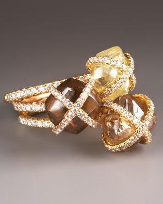 Diamond in the Rough Diamond Ring, Dark Cognac