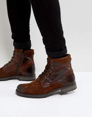 Jack and Jones Leather Boots