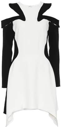 Thierry Mugler Crêpe cold-shoulder dress