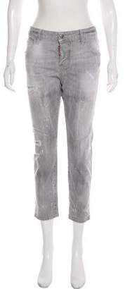 DSQUARED2 Mid-Rise Distressed Jeans