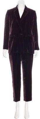 Emanuel Ungaro Velvet Two-Piece Pantsuit $195 thestylecure.com