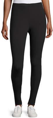 St. John Sport Scuba Zip-Cuff Leggings, Black
