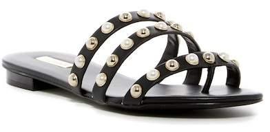 Aldo Mya Embellished Tripe Strap Slide Sandal