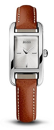 HUGO BOSS HB304 Leather Strap Rectangular Watch - Assorted Pre-Pack