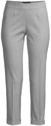 Piazza Sempione Audrey Cuffed Pinstripe Pants