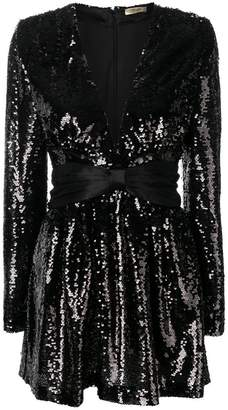 Liu Jo belted sequin mini dress