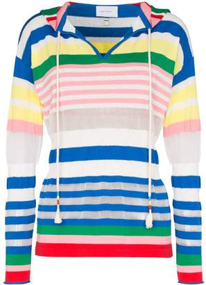 Mira Mikati stripe cotton blend hoodie