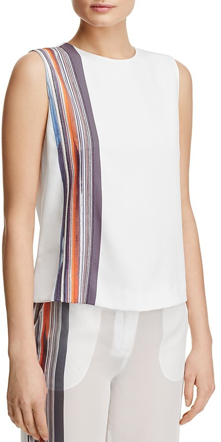 DKNY DKNY Sleeveless Stripe-Detail Top