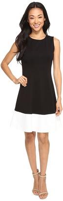 Christin Michaels - Leena Sleeveless Color Block Ponte Dress Women's Dress $74 thestylecure.com