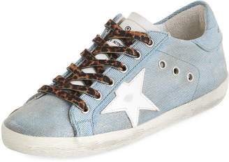 Golden Goose Superstar Jeans Denim Low-Top Sneakers