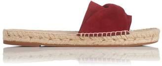 LK Bennett Alena Poppy Suede Flat Espadrille Sandals