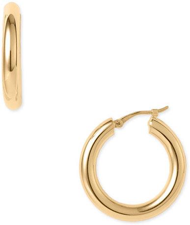Charles Garnier 18Karat Gold 24mm Hoop Earrings