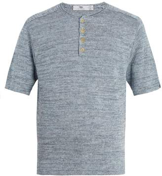 INIS MEÁIN Short-sleeved linen top
