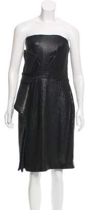 Halston Sequined Strapless Dress w/ Tags