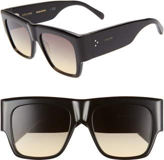 66e578ec3208 Celine 56mm Special Fit Gradient Flat Top Sunglasses