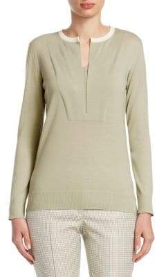 Akris Punto Contrast-Knit Pullover Sweater