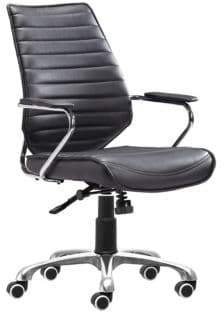 ZUO Enterprise Adjustable Low-Back Office Chair