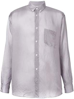 Comme des Garcons sheer button up shirt