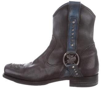 Mark Nason Embossed LEather Boots