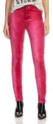 Paige Hoxton Skinny Velvet Jeans in Cherries Jubilee
