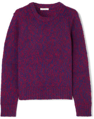 Chloé Brushed Wool And Cashmere-blend Sweater - Purple