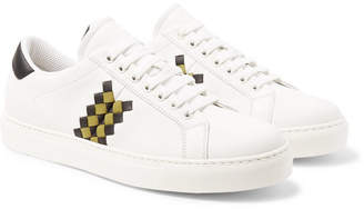 Bottega Veneta Intrecciato-Panelled Leather Sneakers - White