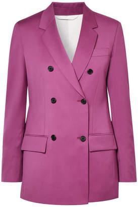 Calvin Klein Double-breasted Wool Blazer - Violet