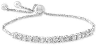 Wrapped Diamond Bolo Bracelet (1/2 ct. t.w.) in Sterling Silver, 14k Yellow Gold Over Silver, & 14k Rose Gold Over Silver