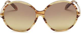 Victoria Beckham Metal temple acetate round sunglasses
