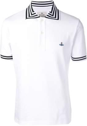 Vivienne Westwood striped trim polo shirt