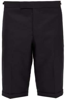 Thom Browne 4 Bar Wool Blend Twill Shorts - Mens - Black