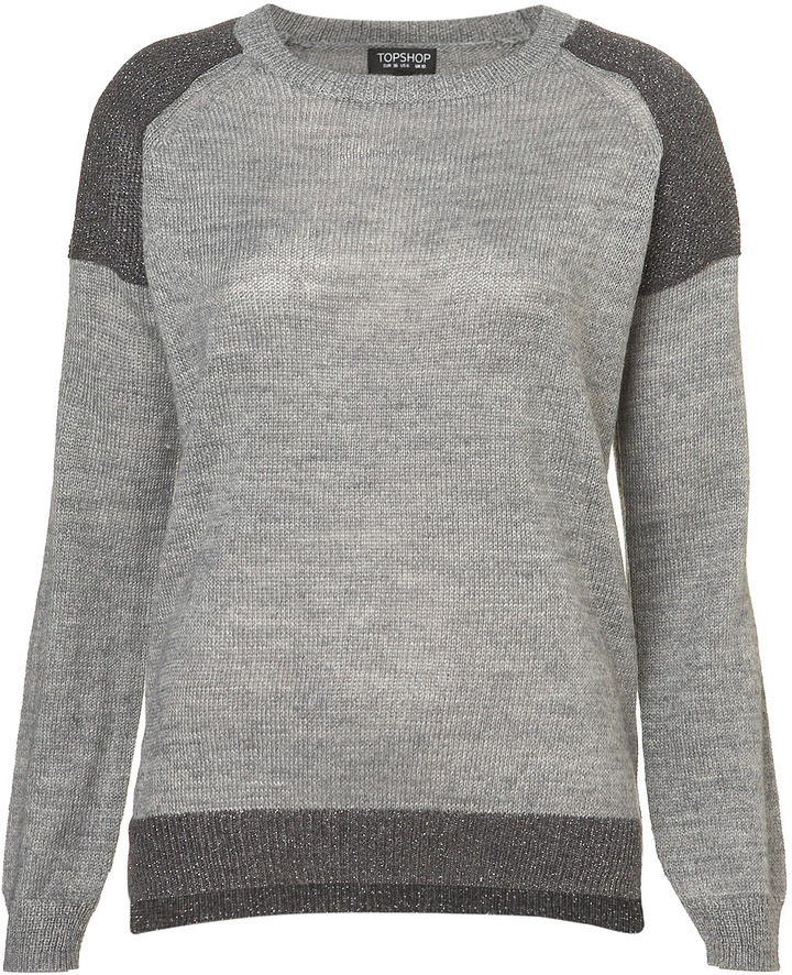 Knitted Shimmer Shoulder Sweat