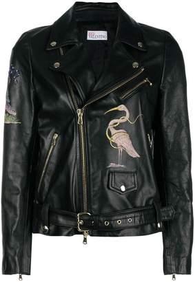 RED Valentino flamingo zipped jacket