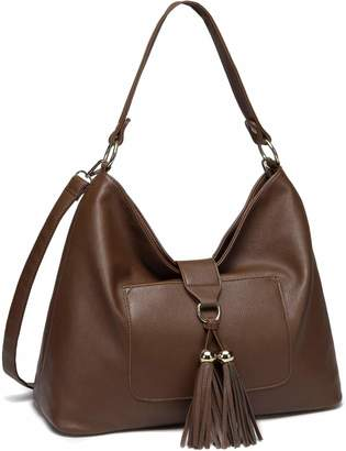 ee60f47eaf7 VASCHY Hobo Bag for Women, SAC Faux Leather Fashion Vintage Tassel Handbag  Purse Tote with
