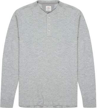 Faherty Sweater Knit Slub Cotton Henley - Men's