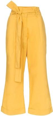 Silvia Tcherassi becerilla paper bag waist cotton trousers