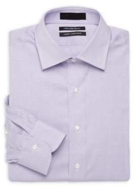 Saks Fifth Avenue Slim-Fit Checked Long-Sleeve Dress Shirt