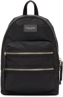 Marc Jacobs Black Nylon Biker Backpack $195 thestylecure.com
