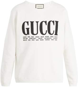 Gucci Logo-print crew-neck cotton sweatshirt