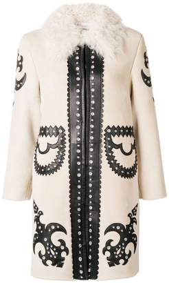 RED Valentino patch single-breasted coat