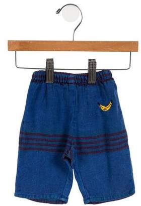 Bobo Choses Boys' Striped Embroidered Pants w/ Tags