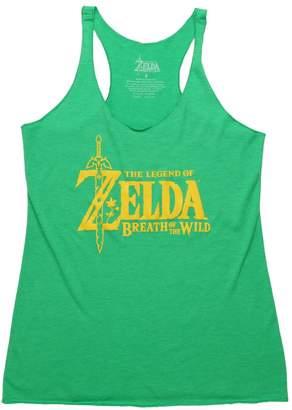 Fifth Sun Legend of Zelda Breath of The Wild Logo Juniors Racerback Tank Top
