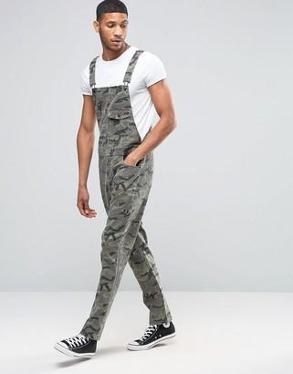 ASOS Camo Overalls In Khaki Herringbone $76 thestylecure.com