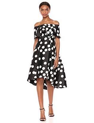 Adrianna Papell Women's Dot Mikado Dress