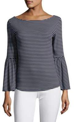 Frame Striped Bell Sleeve Top