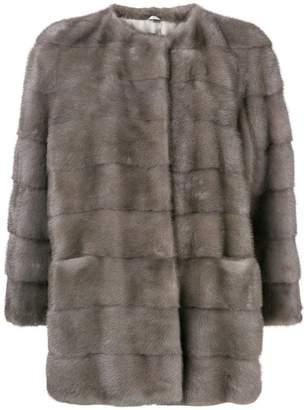 Simonetta Ravizza concealed front coat